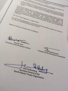 EU-NATO agreement Poland summit