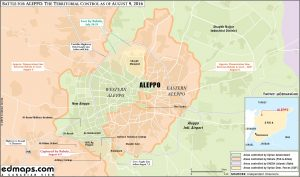 Aleppo map august 2016