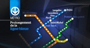 Metrou Montreal: Prelungirea cu 5 statii a liniei albastre